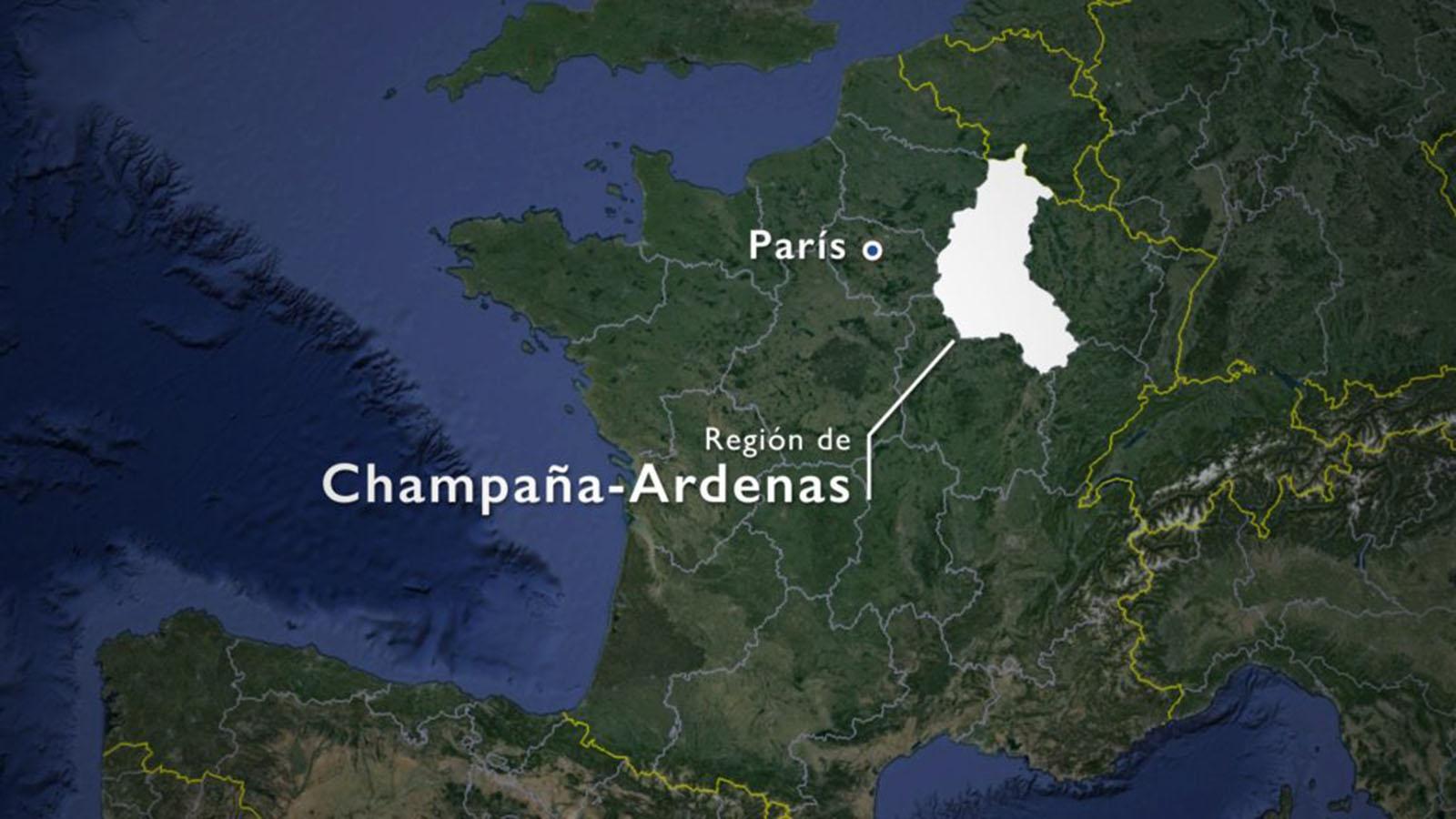Mapa de Champagne