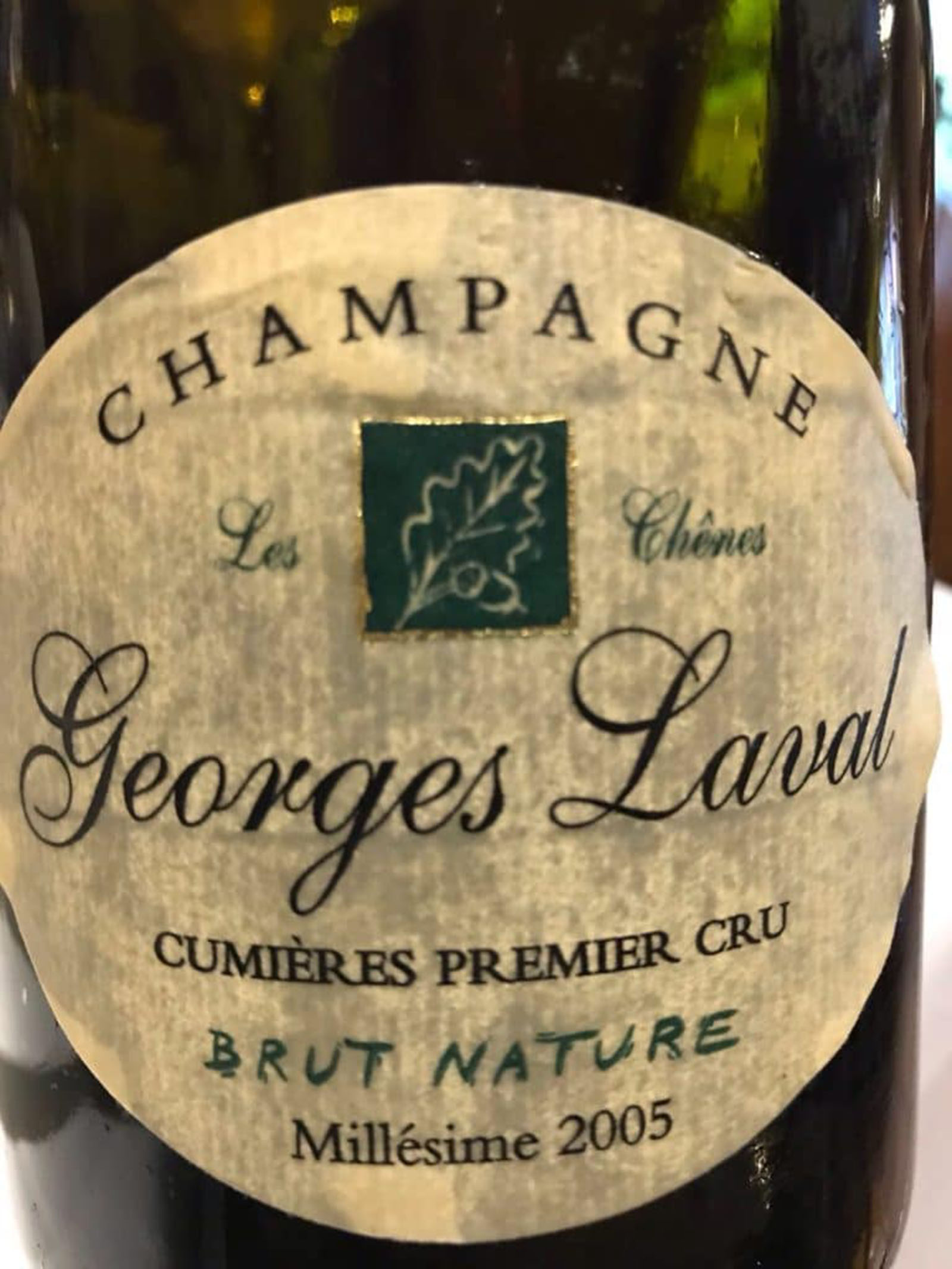 Champagne Georges Laval Les Chenes 2005