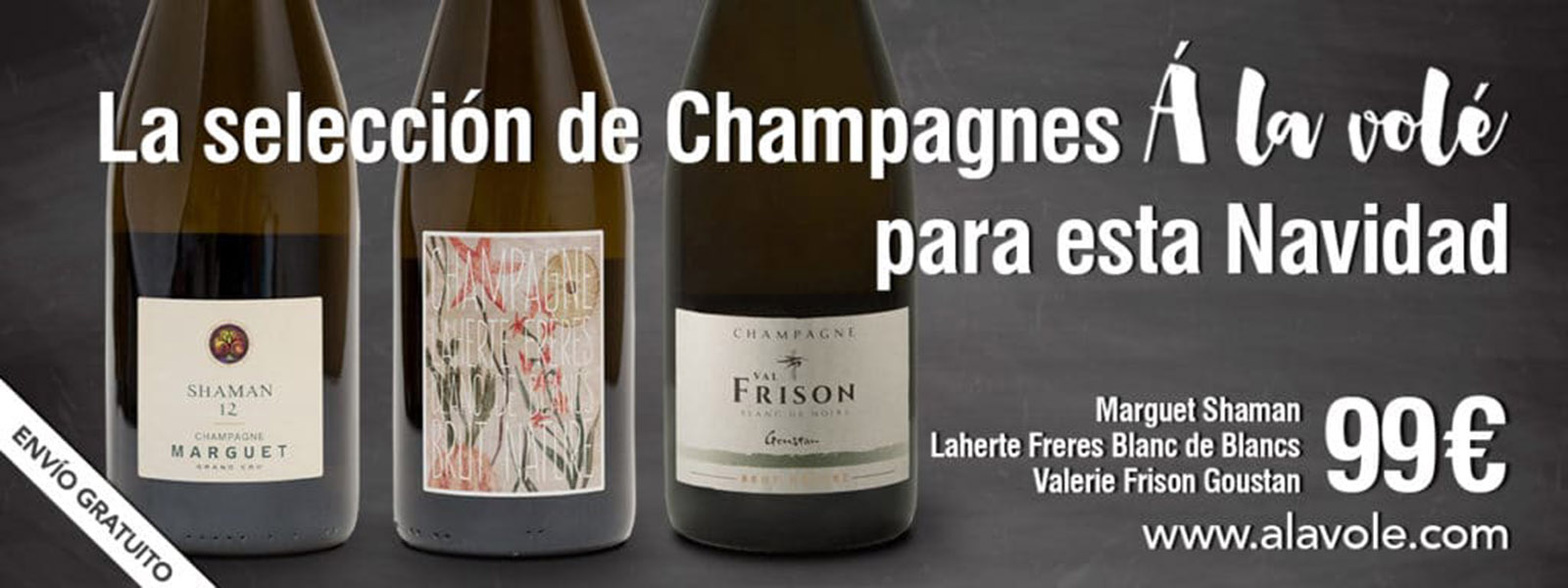 """La Selección de Champagnes """"A la Volé"""" para esta Navidad"""