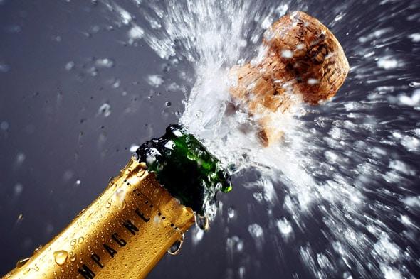 Apertura botella de Champagne