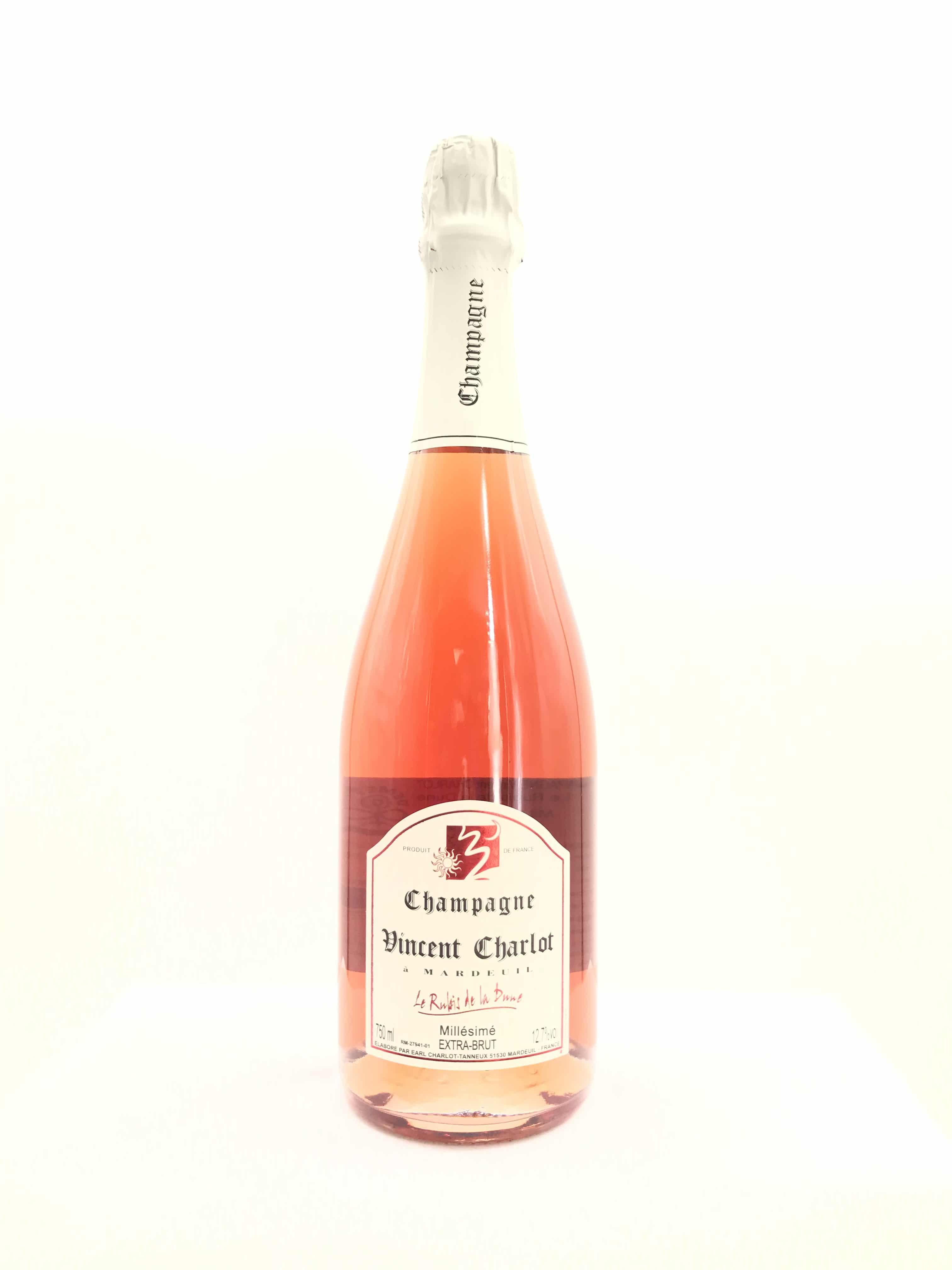 Champagne Charlot Tanneux Rose Rubis de la Dune Millesime
